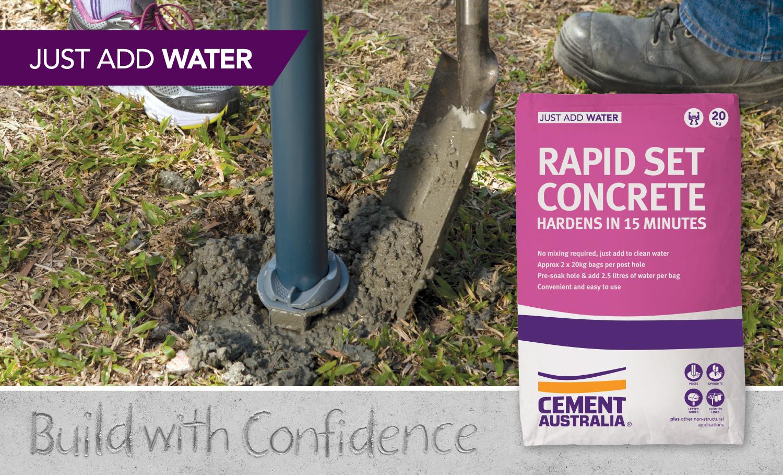 Rapid Set - Fence posts, clotheslines, letterboxes & stirups